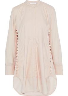 Chloé Woman Button-detailed Cotton Tunic Blush