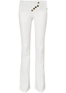 Chloé Woman Button-detailed Mid-rise Bootcut Jeans White