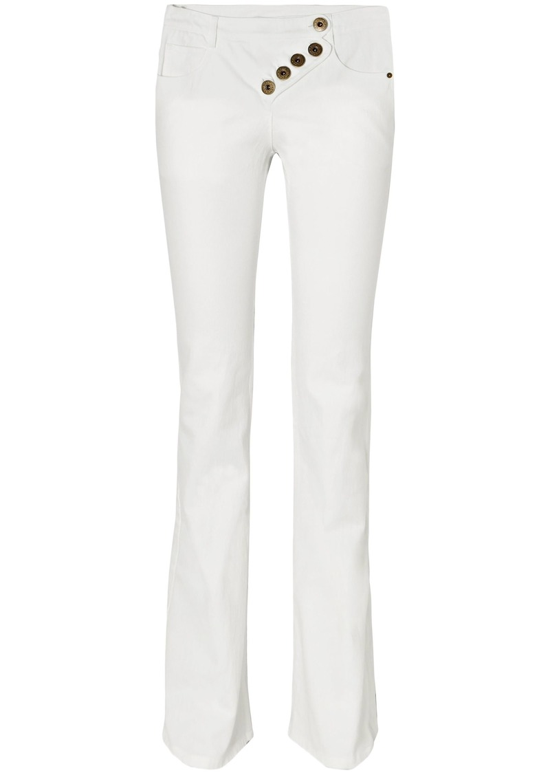 Chloé Woman Button-detailed Mid-rise Bootcut Jeans White