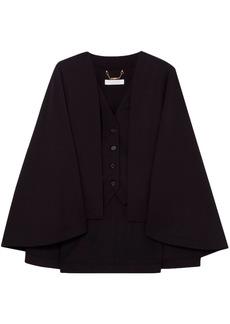 Chloé Woman Cape-effect Wool-blend Vest Black