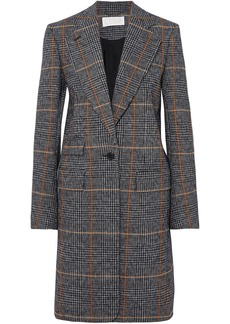 Chloé Woman Checked Houndstooth Woven Coat Multicolor