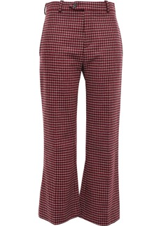 Chloé Woman Checked Wool-blend Tweed Bootcut Pants Crimson