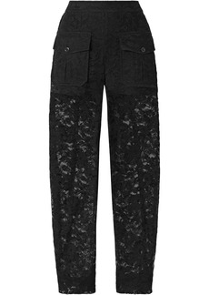 Chloé Woman Cotton-blend Lace Tapered Pants Black