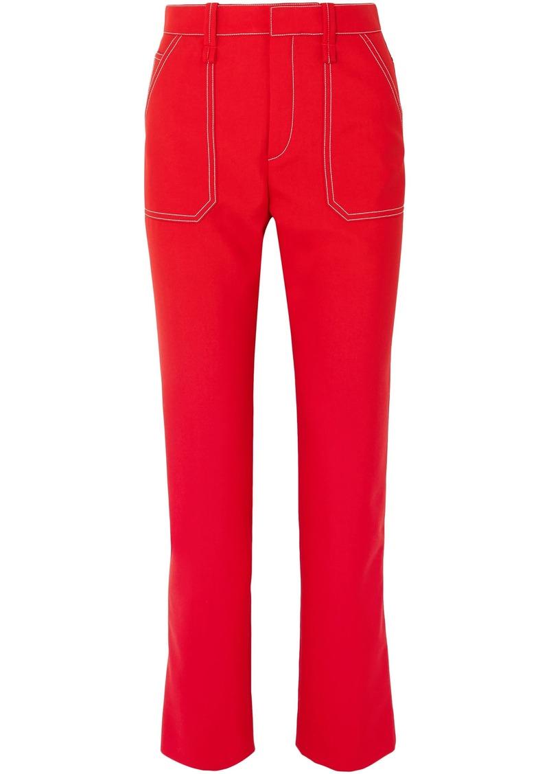 Chloé Woman Crepe Slim-leg Pants Red