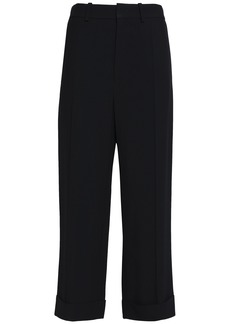Chloé Woman Crepe Straight-leg Pants Black