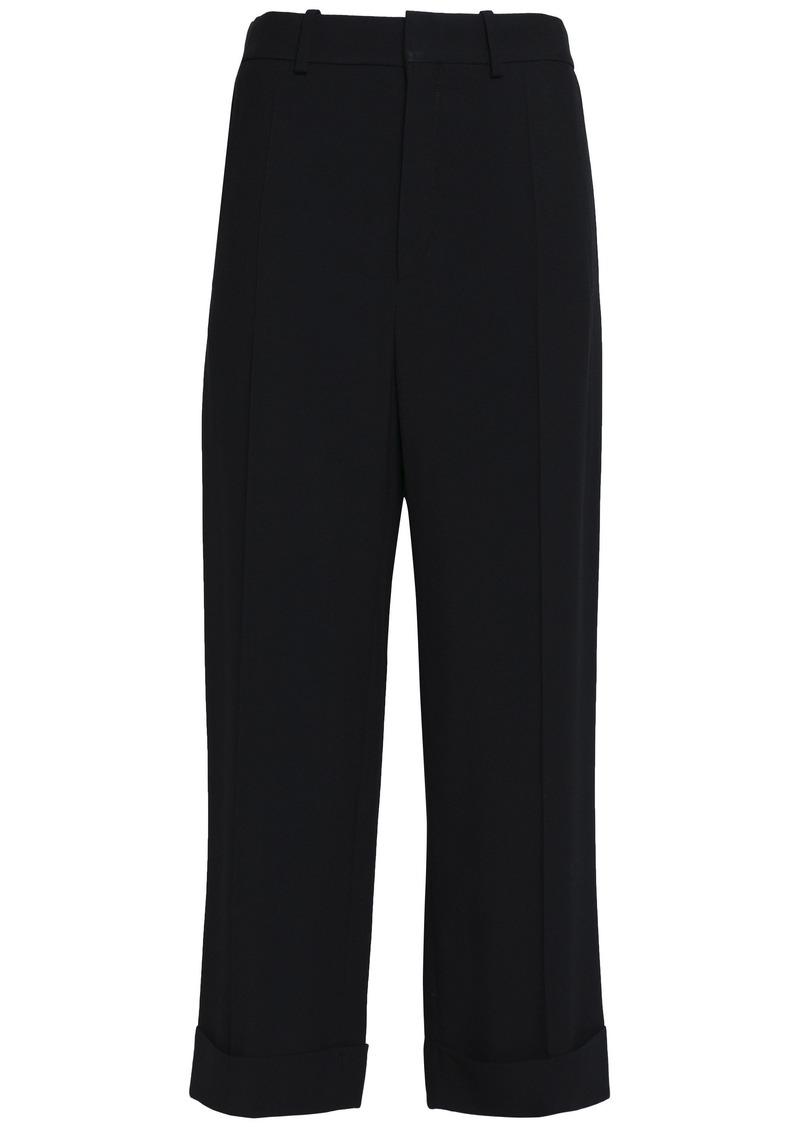 Chloé Woman Crepe Straight-leg Pants Black
