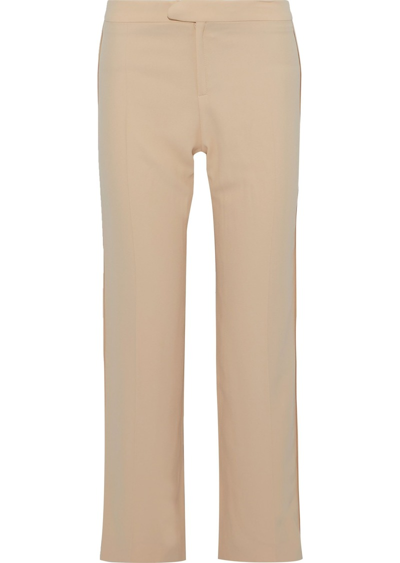 Chloé Woman Crepe Straight-leg Pants Pastel Orange