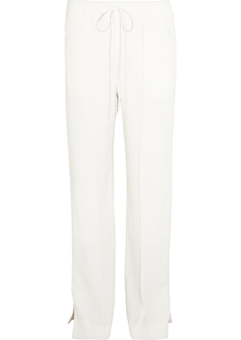 Chloé Woman Crepe Straight-leg Pants White