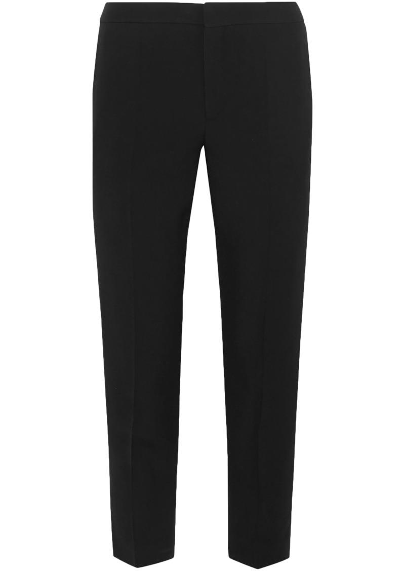 Chloé Woman Crepe Tapered Pants Black