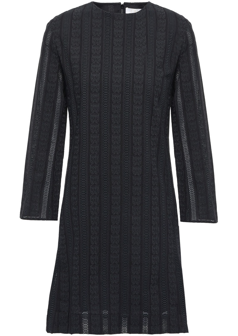 Chloé Woman Crocheted Cotton Mini Dress Black