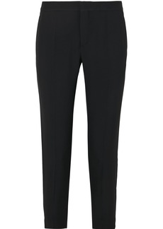 Chloé Woman Cropped Cady Slim-leg Pants Black