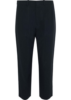 Chloé Woman Cropped Crepe Straight-leg Pants Midnight Blue