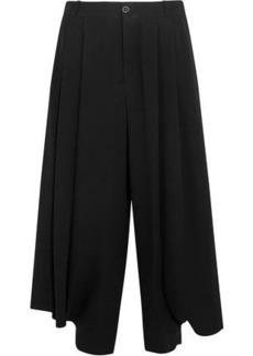 Chloé Woman Cropped Crepe Wide-leg Pants Black