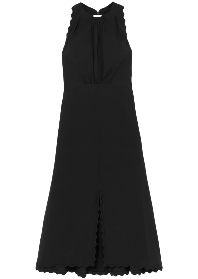 Chloé Woman Cutout Cady Midi Dress Black