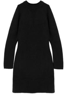 Chloé Woman Cutout Knitted Mini Dress Black
