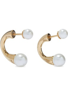 Chloé Woman Darcey Gold-tone Faux Pearl Earrings Gold