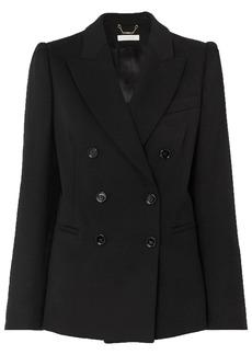 Chloé Woman Double-breasted Wool-blend Blazer Black