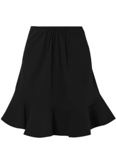 Chloé Woman Fluted Gathered Crepe Mini Skirt Black