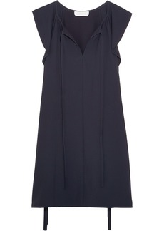 Chloé Woman Flutter-sleeve Cady Mini Dress Navy