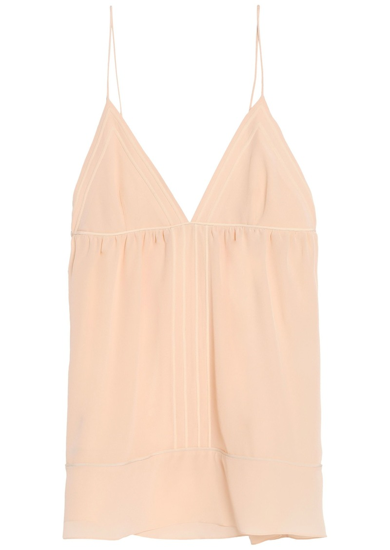 Chloé Woman Gathered Silk Crepe De Chine Camisole Blush