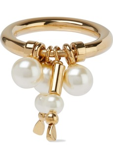 Chloé Woman Gold-tone Faux Pearl Ring Gold
