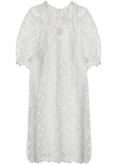 Chloé Woman Guipure Lace Cotton Dress White