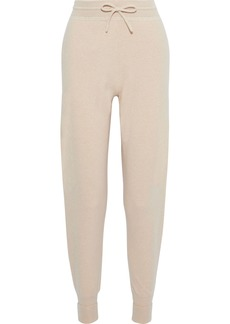 Chloé Woman Intarsia Cashmere Tapered Pants Beige