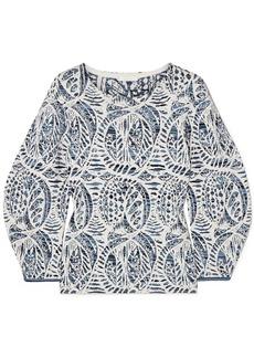 Chloé Woman Jacquard-knit Sweater Teal