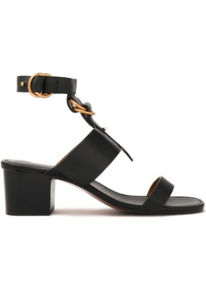 Chloé Woman Kingsley Leather Sandals Black