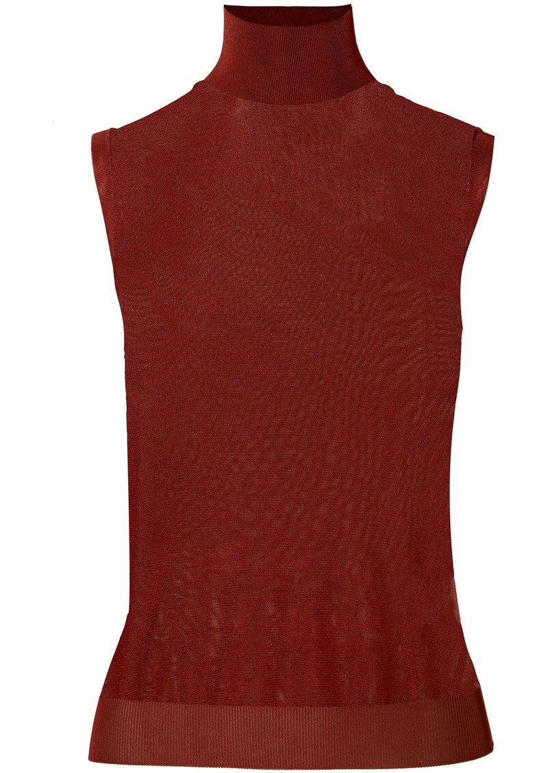 Chloé Woman Knitted Turtleneck Top Burgundy