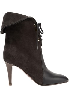 Chloé Woman Kole Palmer Suede And Leather Ankle Boots Black