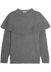 Chloé Woman Layered Cashmere Sweater Gray