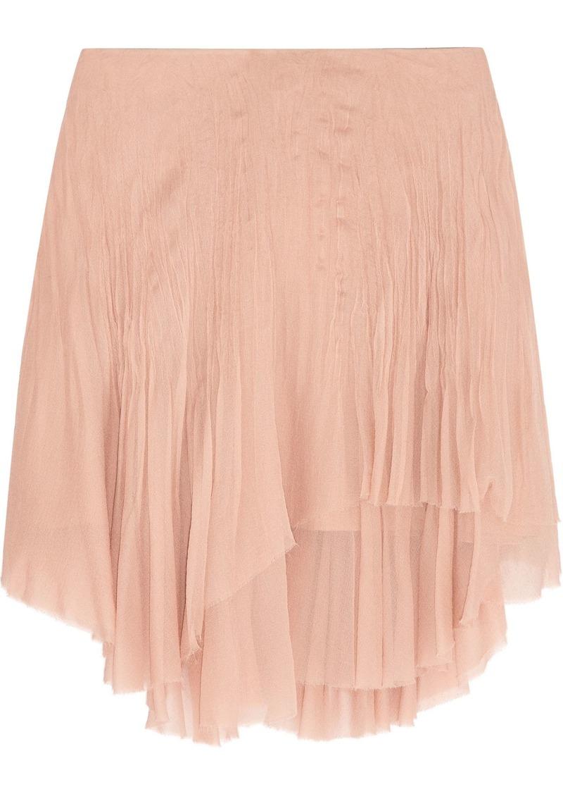 Chloé Woman Layered Silk-chiffon Mini Skirt Blush