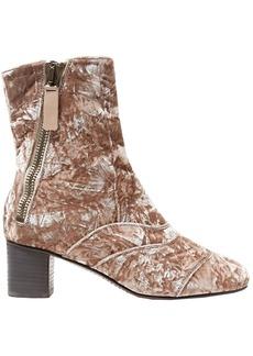 Chloé Woman Lexie Crushed-velvet Ankle Boots Antique Rose