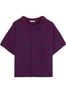 Chloé Woman Marled Wool And Cashmere-blend Sweater Bright Blue