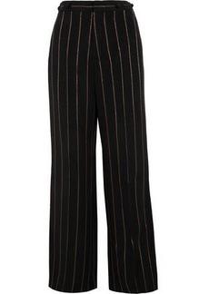 Chloé Woman Metallic Striped Cady Wide-leg Pants Black