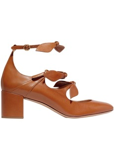 Chloé Woman Mike Bow-embellished Mary Jane Pumps Camel