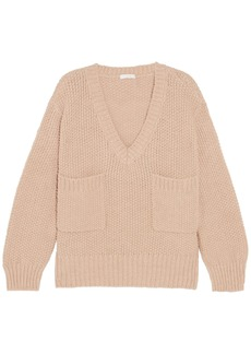Chloé Woman Oversized Knitted Sweater Antique Rose