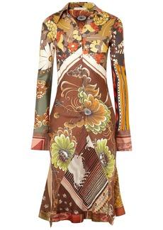 Chloé Woman Printed Silk-satin Blouse Brown