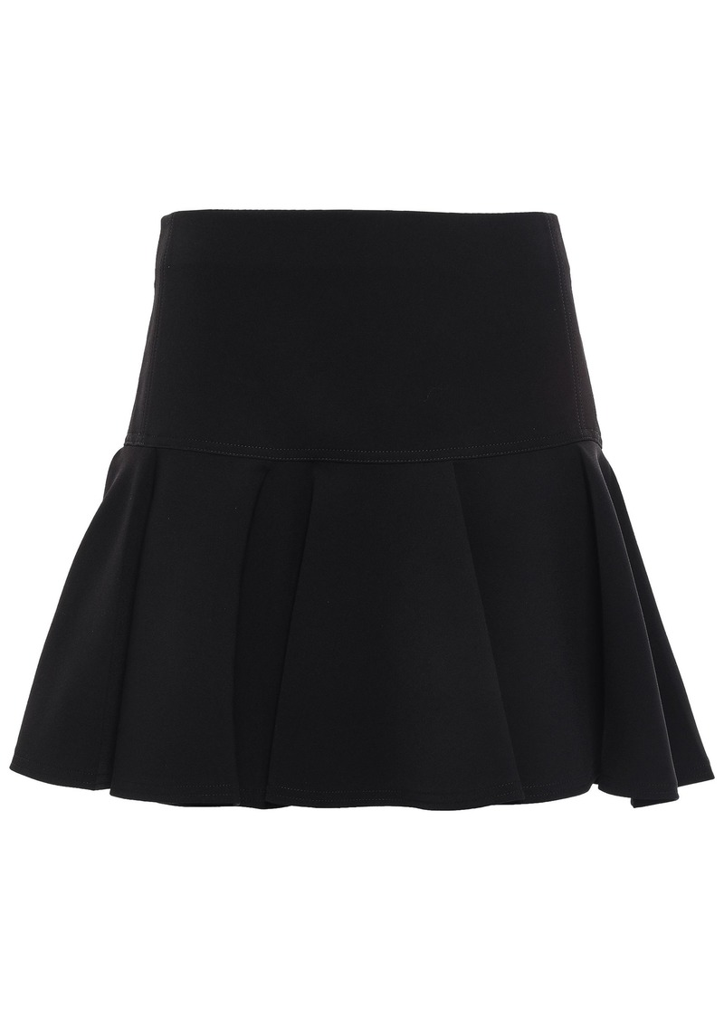 Chloé Woman Pleated Crepe Mini Skirt Black