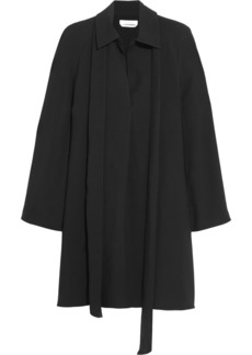 Chloé Woman Pussy-bow Pleated Cady Dress Black