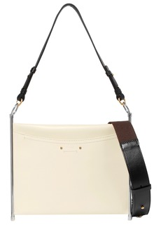 Chloé Woman Roy Convertible Textured-leather Shoulder Bag Ecru