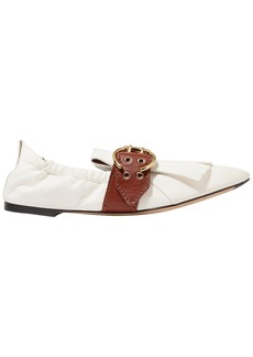 Chloé Woman Roy Fringed Leather Loafers White
