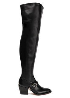 Chloé Woman Rylee Leather Over-the-knee Boots Black