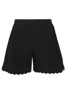 Chloé Woman Scalloped Cady Shorts Black