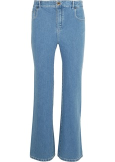 Chloé Woman Scalloped High-rise Flared Jeans Mid Denim