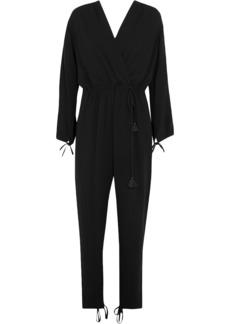 Chloé Woman Tassel-trimmed Crepe Jumpsuit Black