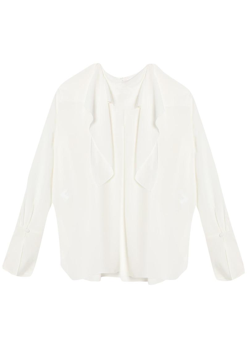 Chloé Woman Tie-neck Silk Blouse White