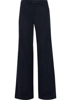 Chloé Woman Twill Wide-leg Pants Midnight Blue