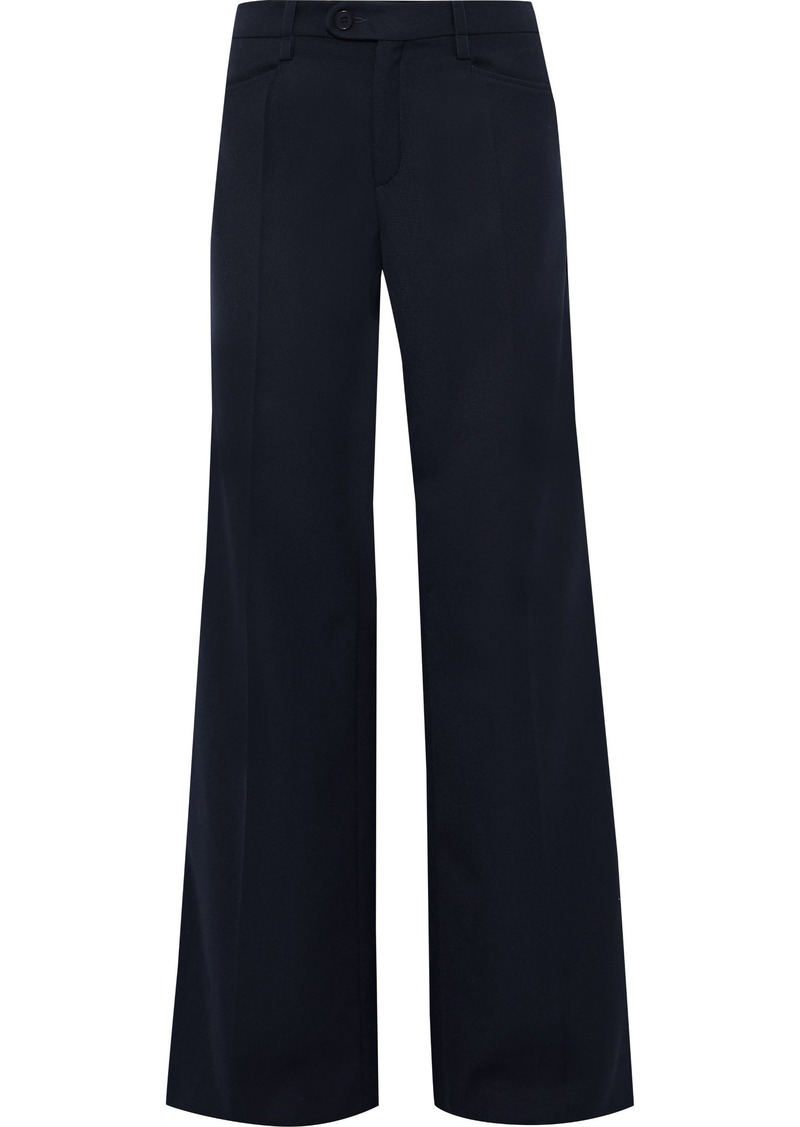 Chloé Woman Twill Wide-leg Pants Midnight Blue